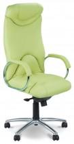 Кресло для руководителя Elf Steel Chrome LE, кожа+ хром