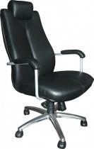 Кресло для руководителя Sonata Steel Chrome LE, кожа+хром