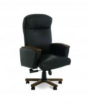 Кресло для руководителя Luxus A, кожа+дерево