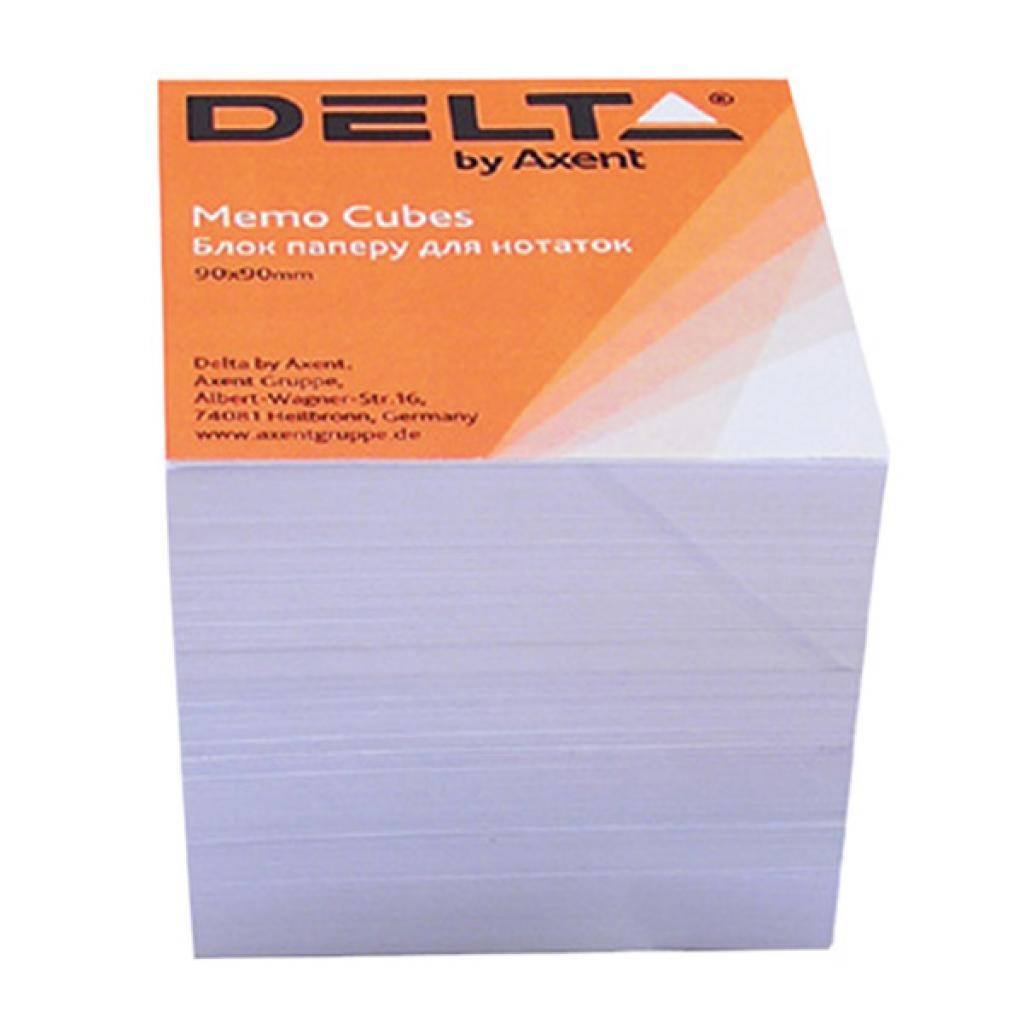 Блок для записи неклееный 90*90*80мм., Белый Delta - фото 1
