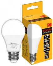 Лампа светодиодная LED Е27 A60 8Вт. 4100К (нейтрально белый свет)