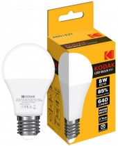 Лампа светодиодная LED Е27 A60 8Вт. 3000К (тёплый белый свет)