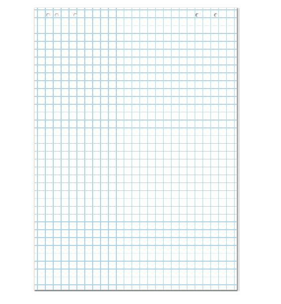 Блокнот для флипчартов в клетку 58*83см., А1, 30л. 2x3 - фото 1