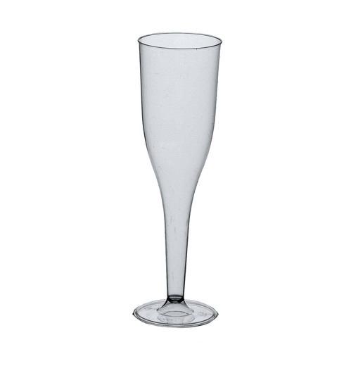 Бокал для шампанского 100мл., 20шт./уп., стеклоплаcтик PapStar - фото 1