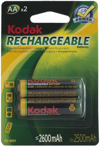 Аккумулятор АА (HR6), 2600 мАч., 2шт./уп. Kodak - фото 1