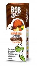 """Мармелад натуральный в бельгийском молочном шоколаде Груша-Апельсин """"Равлик Боб"""", 27г."""