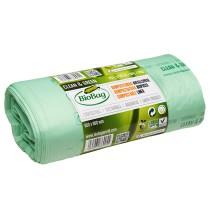 Мешки для мусора биоразлагаемые BioBag на 75литров, 65*90см., 25микрон, 20шт. в рул., зелен.