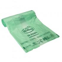 Мешки для мусора биоразлагаемые BioBag на 35литров, 60*74см., 17микрон, 40шт. в рул., зелен.