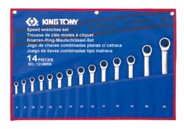 Набор ключей комби с трещеткой 14шт. (8-24мм)