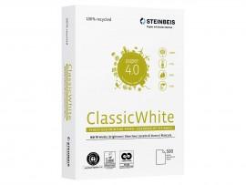 Бумага А4 80гр./м2. 500 лист. Classic White ISO 70/СІЕ 55 на 100% из втор. сырья, сероватый оттенок