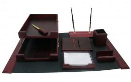 Набор настольный деревянный 8 предметов, красн. дерево