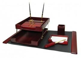 Набор настольный деревянный 7 предметов, красн. дерево