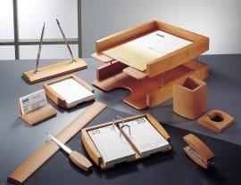 Набор настольный деревянный 10 предметов, светл. вишня
