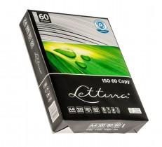 Бумага А4 80гр./м2. 500 лист. Lettura ISO 60 на 100% из втор. сырья, имеет сероватый цвет