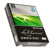 Бумага А4 80гр./м2. 500 лист. Lettura ISO 72 Эко на 100% из втор. сырья, имеет сероватый цвет