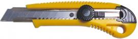 Нож канцелярский большой 18мм., метал. направляющая, винтовой фиксатор лезвия