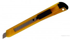 Нож канцелярский малый 9мм., пластиковый корпус