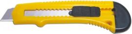 Нож канцелярский большой 18мм., пластиковый корпус