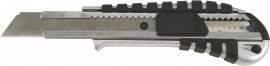 Нож канцелярский большой 18мм., метал. направляющая, металлический корпус