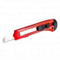 Нож канцелярский большой 18мм., прорезной с отломным лезвием