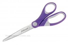 Ножницы 18,2см. JOY с прорезиновыми ручками, фиолет.