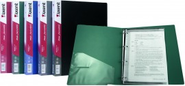 Папка А4 35мм. 4кольца, пластик, внутренний карман, бордо