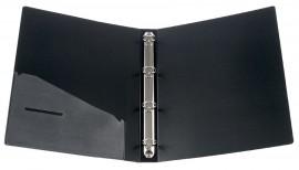 Папка А4 35мм. 4кольца, пластик, внутренний карман, черн.