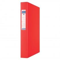 Папка А4 40мм. 4кольца, сменный индекс, красн.