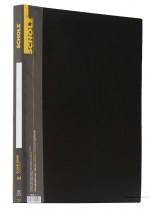Папка на 30 файлов, пластик толщина 600мкм., черн.