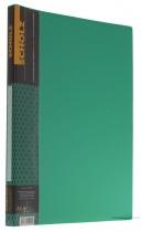 Папка со скоросшивателем и карманом 20мм., пластик зелен.