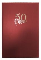 "Папка сувенирная ""50 років"", 221*230, бордо"