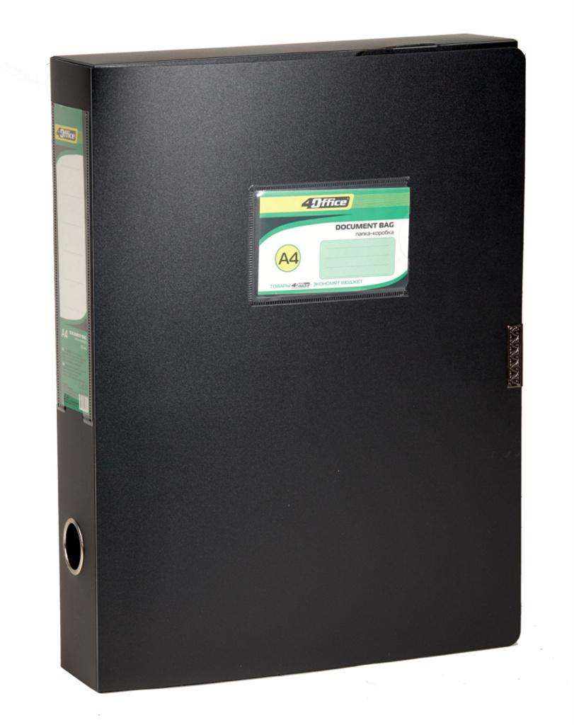 Папка-бокс на липучке А4, 55мм., пласт., ассорт. 4Office - фото 1