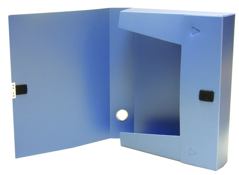 Папка-бокс на липучке А4, 55мм., пласт., ассорт. 4Office - фото 2