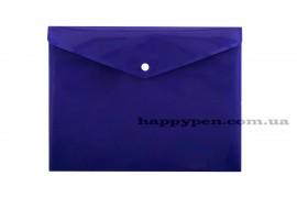 Папка-конверт на кнопке с расширением А4 (330*260мм), PP-116, толщина 180мкм., фиолет.