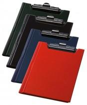Папка-планшет А5, PVC, син.