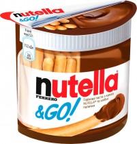 Паста ореховая Nutella&Go с хлебными палочками, 52г.