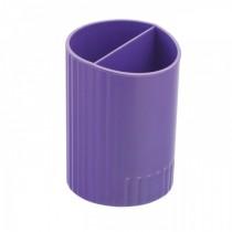 Подставка для ручек на 2 отделения пластиковая, фиолет.