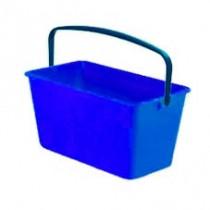 Ведро прямоугольное, 15л., длина 46,5см., пластик, син.
