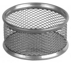 Подставка для скрепок металлическая, серебр.
