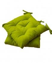 Подушка на стул HALF PANAMA, 40*40см., 100% хлопок, зелен.