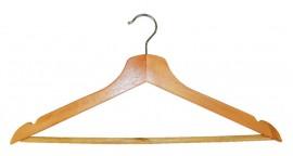 Вешалка деревянная для одежды, с перекладиной, 44,5см. х 1,2см. х 23см.