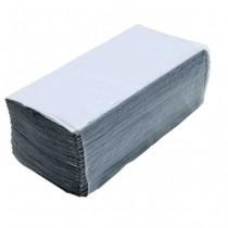 Полотенца листовые V (ZZ)-складка 1-сл., макул., 200 лист.(23*25см.) Эконом, сер.