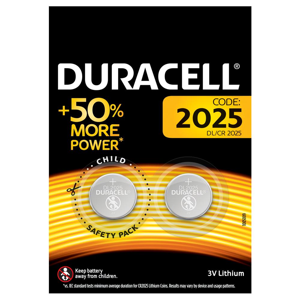 Батарейка DL2025 (CR2025) DSN, 3V, 2шт./уп. Duracell - фото 1