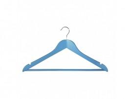 Вешалка деревянная для одежды Everyday, с перекладиной, 44,5см. х 1,2см. х 23см., голуб.