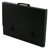 Портфель А3, на 1 отделение картон, с ручкой, черн.