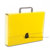 Портфель с ручкой, картонный А4 (32*23,5*5см), на 1 отделение, желт.
