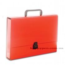 Портфель с ручкой, картонный А4 (32*23,5*5см), на 1 отделение, красн.