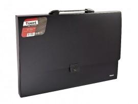 Портфель А3, на 1 отделение пластик с ручкой, черн.