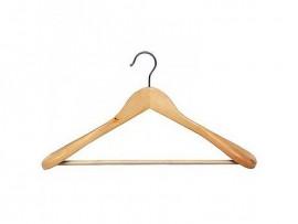 Вешалка деревянная для верхней одежды, с перекладиной, 45см. х 5,8см. х 23,5см.